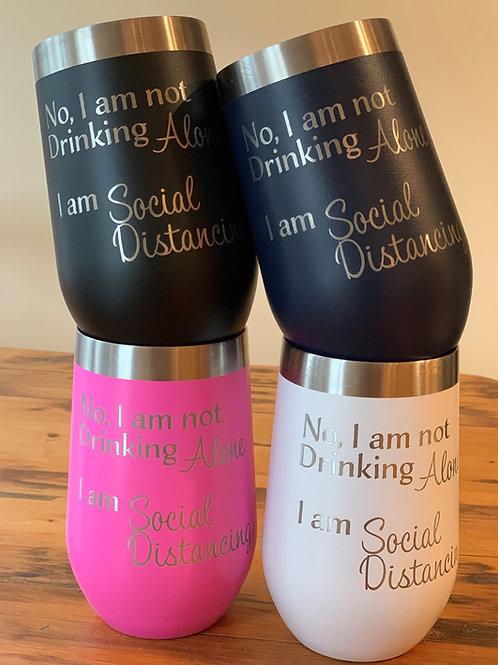 Insulated Wine Mug - Social Distancing (16 oz)