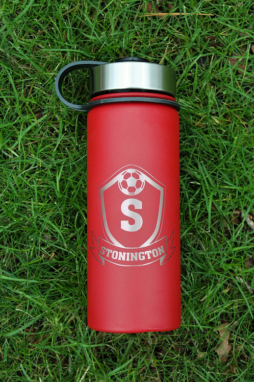 Thermos style, wide mouth water bottle