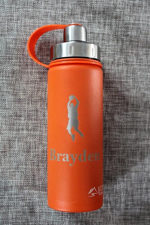 Triple Insulated Water Bottle 20 ounce Orange