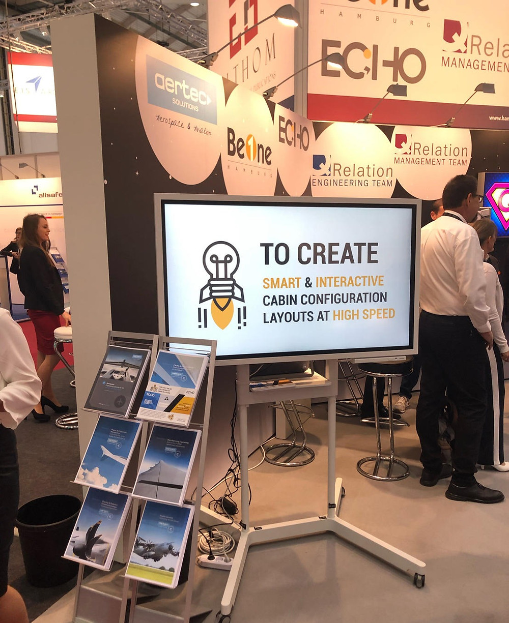 Echo Surprising The Cabin Community At The Aircraft Interior Expo 2019