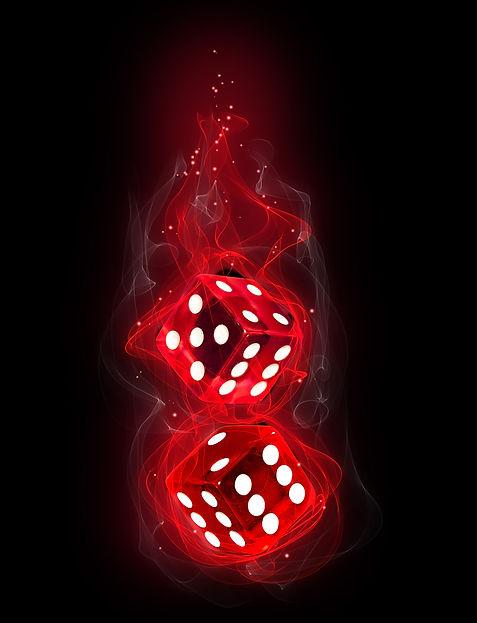 Firey Red Dice
