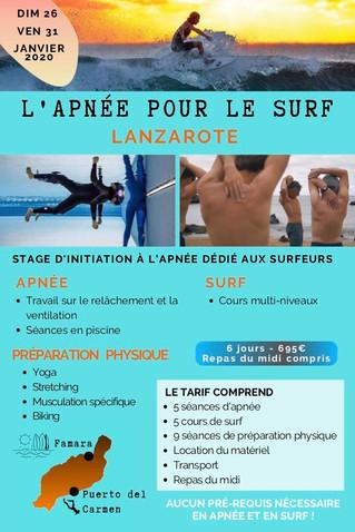 Apnée pour le Surf -  Lanzarote 2020