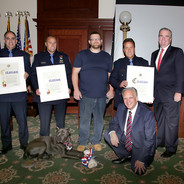 Mangano Honors Police Officers for Saving the Lives of Two Boaters & Their Dog