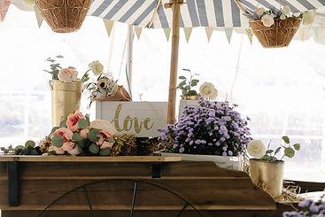 Beautiful handcrafted flowercart wedding rental