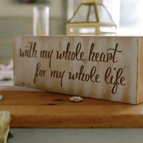 With my whole heart design