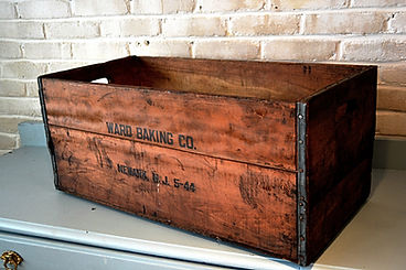 Antique wood crates wedding rental