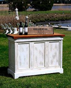 Rustic bar wedding rental