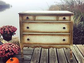 antique dresser wedding rental