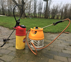 Renhold af belægning med gasbrænder elle