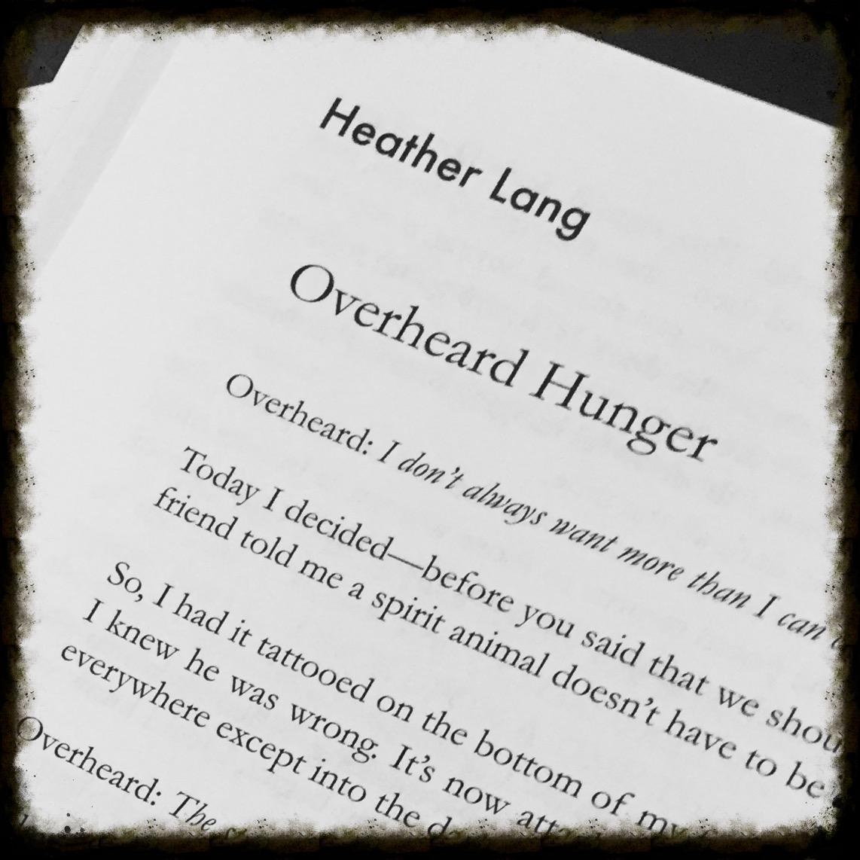 Overheard Hunger