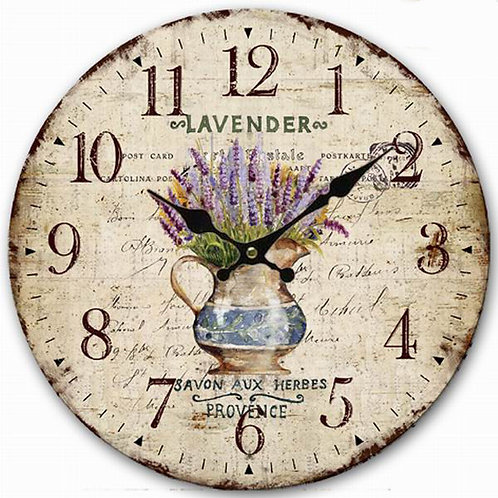 Lavender French Clock