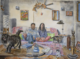 Marco, Jorgelina and Their Cabal of Cats