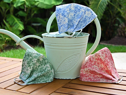 Pink, Periwinkle, & Green Floral Face Masks