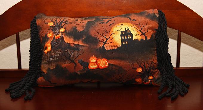 Haunted Night Halloween Throw Pillow