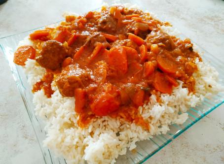 Boulettes de boeuf aux carottes