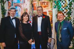 Mayor Ken Christian with WCT Artistic Director James MacDonald, KAG Executive Director Margaret Chrumka, and KSO Executive Director Daniel Mills