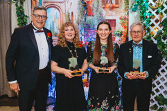Mayor Ken Christian with the 3 winners of the Mayor's Awards for the Arts