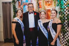 The Mayor posing with Miss Kamloops and the Princesses