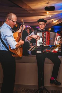 Roving musicians Richard Taylor and Toby Wendland