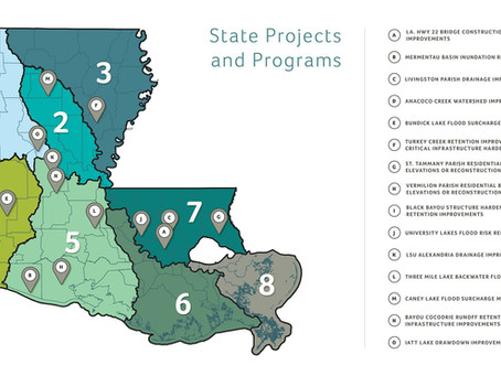 Gov. Edwards Announces $163M for 15 State Projects to Reduce Flood Risk