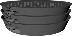 3D Bottom Plant Saucer Stacked on Top Pl