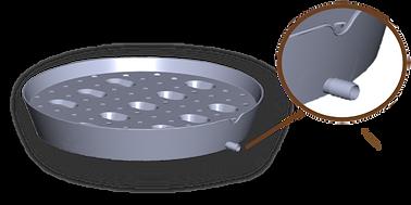 3D Smart Plant Tray Saucer Spout Closeup