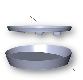 3D Hovering Top Plant Tray Bottom Plant