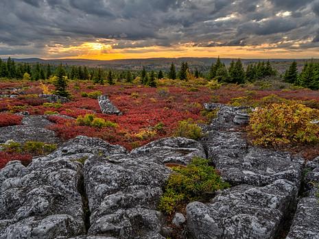 Sunset, Bear Rocks
