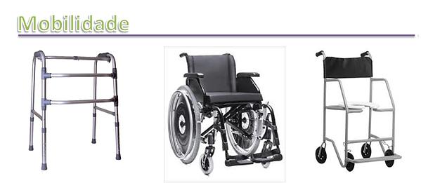 cadeira de rodas, andadores, muletas, cadeira de banho