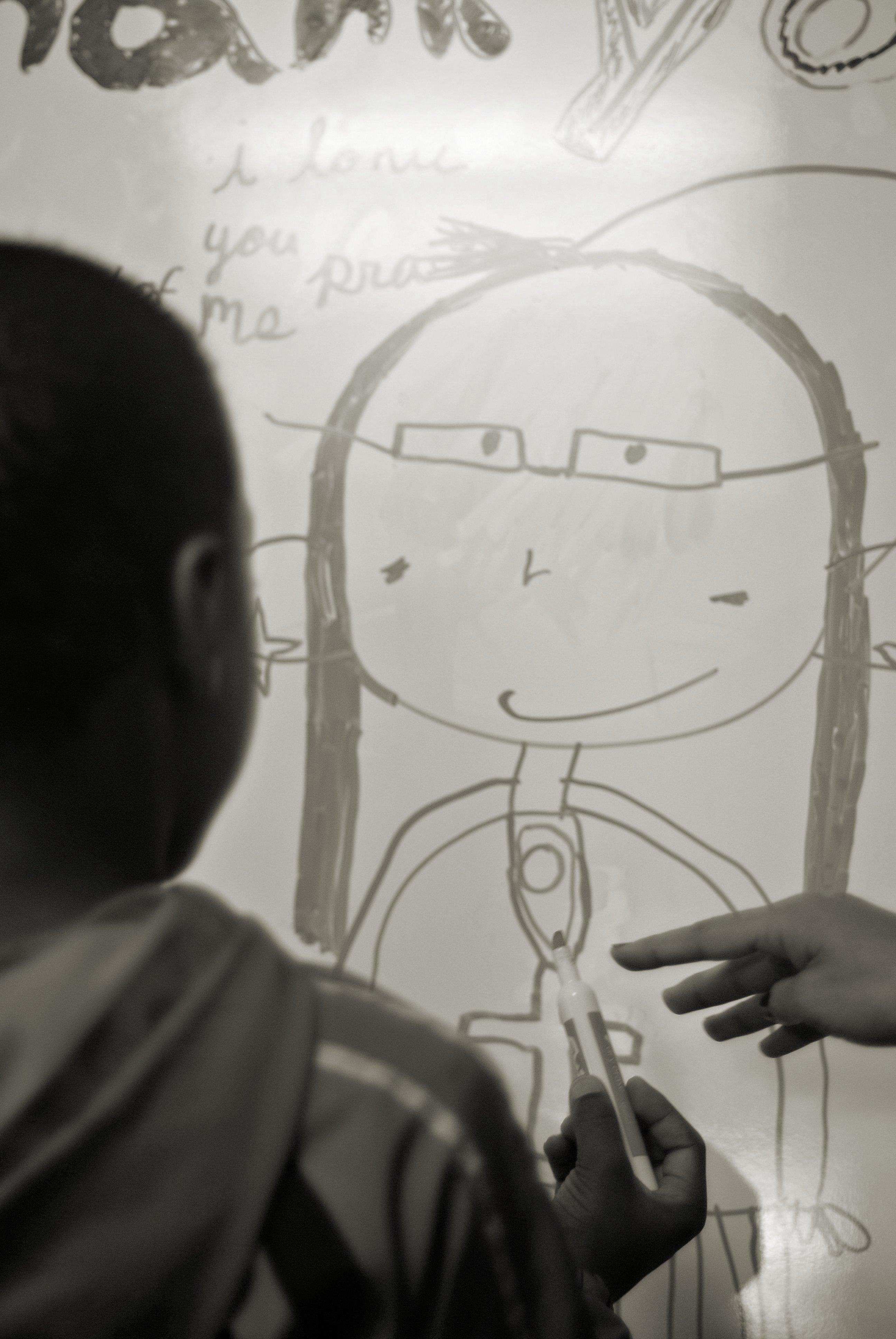 Drawing an Ankh on my Teacher
