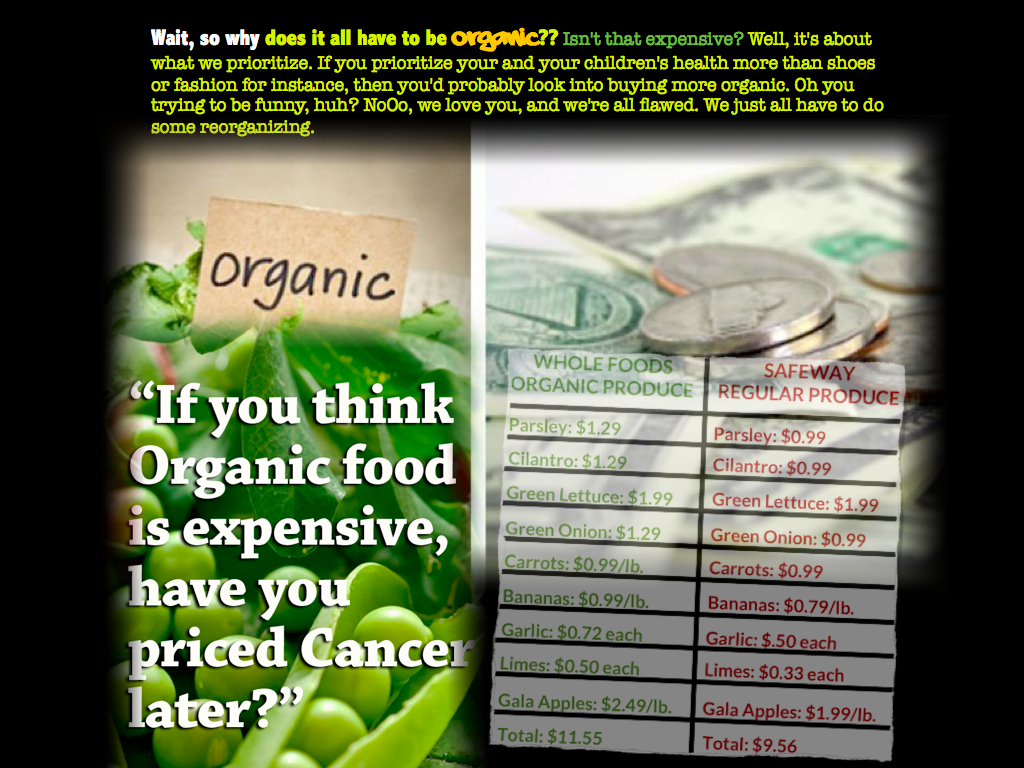 9. Organic Too Expensive!?