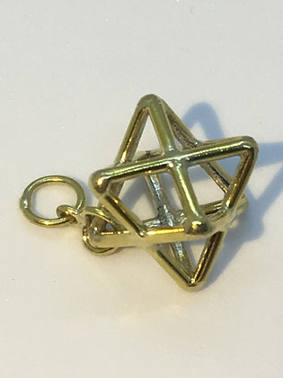 Gold Plated  Star Tetrahedron Pendant
