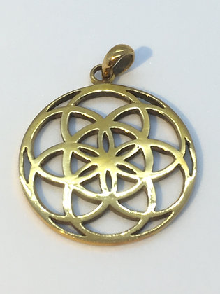 Gold Plated Seed Of Life