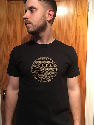 Gold Flower Of Life Tshirt