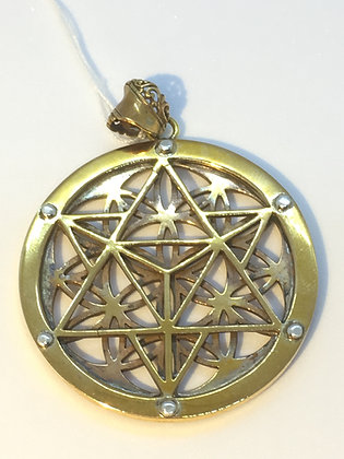 Gold  Plated Double Sided Pendant