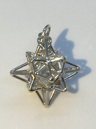 Sterling Silver Heart Star Pendant