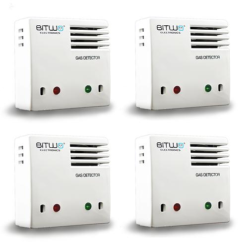 4 Piezas:Detector De Gas Lp Natural Humo Y Monoxido De Carbono | Bitwo Modelo A1
