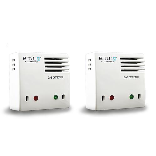 2 Piezas:Detector De Gas Lp Natural Humo Y Monoxido De Carbono | Bitwo Modelo A1