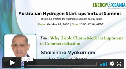 Dr Vyakarnam's Australian Hydrogen Start-ups Virtual Summit Talk Replay