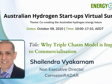 Dr Vyakarnam's Australian Hydrogen Start-ups Virtual Summit Talk Replay