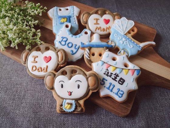 猴寶寶男女生版 - 收涎糖霜餅乾