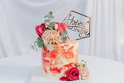 油彩玫瑰-鮮花蛋糕