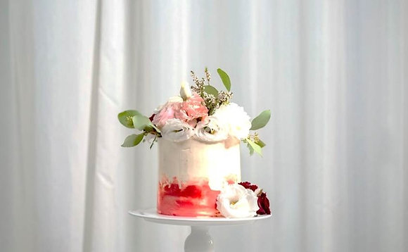 浪漫捧花-鮮花蛋糕