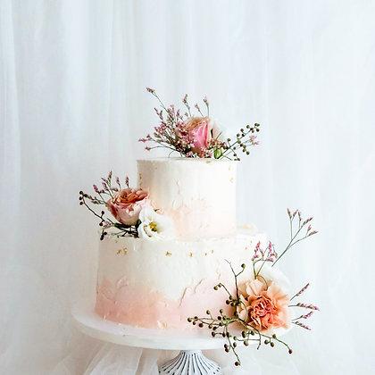 情定花海-鮮花蛋糕