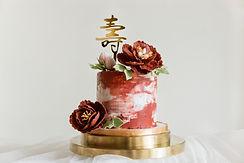 福壽雙全-造型糖花蛋糕