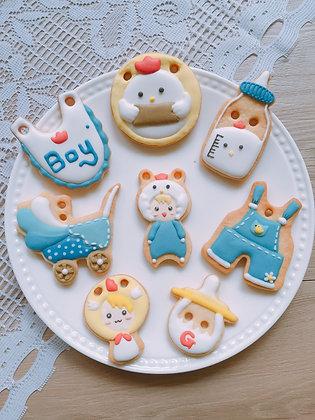 雞寶寶男女生版 - 收涎糖霜餅乾