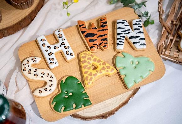 動物花紋 字母數字 - 糖霜餅乾