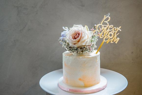 晶透繁星玫瑰-鮮花蛋糕