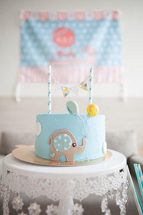 藍色小象DIY 生日派對包
