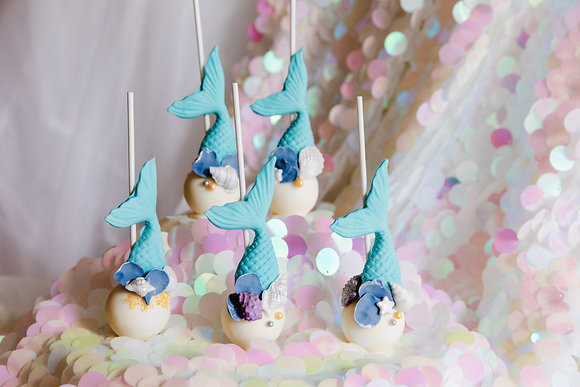 美人魚棒棒糖蛋糕